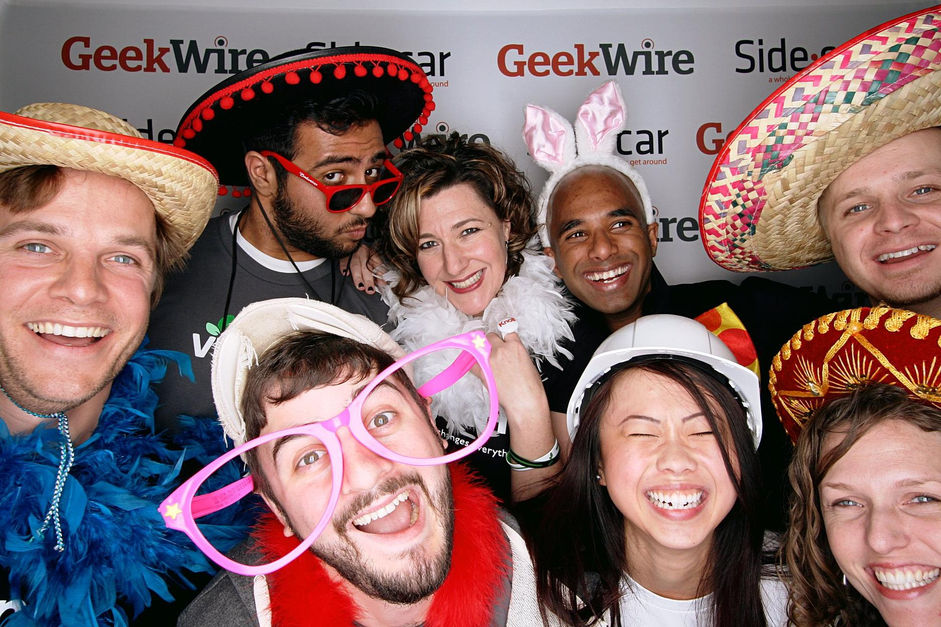 Team Vittana rolling deep at last night's GeekWire bash